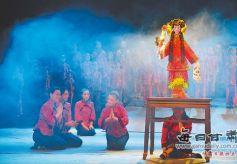 甘肃西和县文艺工作者编排民俗歌舞剧《乞巧情》