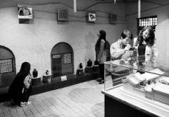 游客参观甘肃庆城县周祖农耕文化展览馆