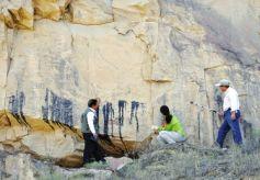 甘肃景泰芦阳发现大幅古岩画 初步断定距今约3000年前