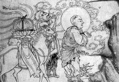 甘肃瓜州西夏时代洞窟内 现存六幅中国最早《玄奘取经图》