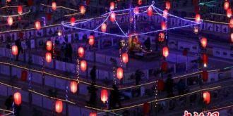"""张掖碱滩镇举办非物质文化遗产""""九曲黄河灯阵""""展示活动"""
