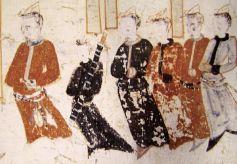 甘肃敦煌壁画中具有民族特色的荷包