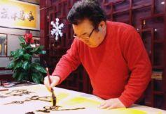 著名书法家吴西臣先生来甘肃兰州进行书法交流