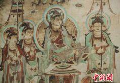 """""""敦煌壁画艺术精品高校巡展""""在武汉举行"""