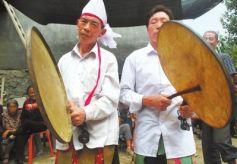 甘陇南古老民间歌舞:陇南羊皮扇鼓