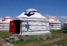 甘肃酒泉古代游牧民族居住场所毡帐:穹庐