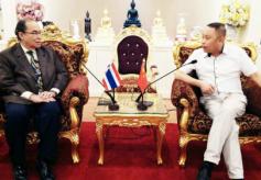 泰国曼谷吞武里大学副校长猜勇会见甘肃代表团一行