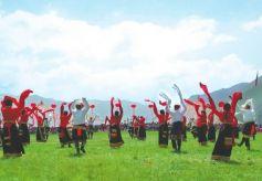 中国·碌曲第五届锅庄舞大赛暨香浪节在碌曲县开赛
