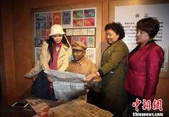 香港艺人彭丹为电视剧《南泥湾》在甘肃境内选景