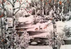 甘肃庆阳籍画家、白桦林画院副院长孙胤博先生的艺术风尚
