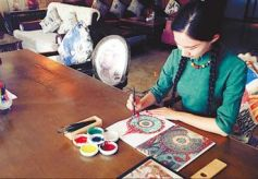 敦煌研究院首次尝试开发涂色书 手绘千年敦煌