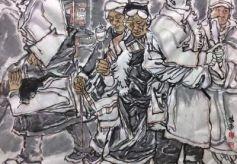 行地无疆——霍辉民旅美水墨写生作品展在兰州美术馆举办