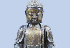 甘肃靖远县博物馆馆藏:释迦牟尼鎏金铜坐像