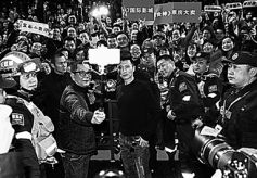 谢霆锋携电影《决战食神》来兰州举行影迷见面会