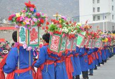 """甘肃舟曲县迎来""""转灯节""""  传承传统文化"""