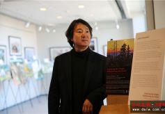 兰州大学访美学者燕昱在北卡大学教堂山分校举办个人画展