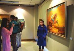 土库曼斯坦功勋艺术家伊沙古利耶夫·伊沙古利油画作品展开展