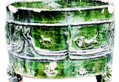 甘肃天水博物馆馆藏珍宝:汉代绿釉陶奁