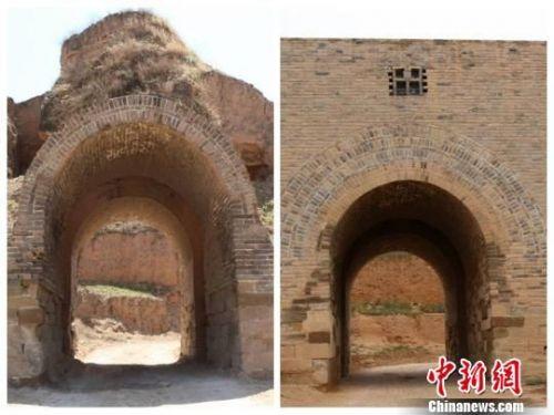 陕西明长城建安堡南门城洞维修前后对比图 西安文物保护修复工程有限公司供图