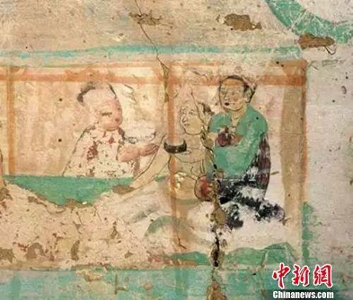 图为莫高窟9窟壁画良医授药(晚唐)。 敦煌研究院供图