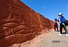 丝绸之路主题沙雕展亮相甘肃张掖