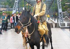 千里走单骑跨走甘肃黄河第一桥
