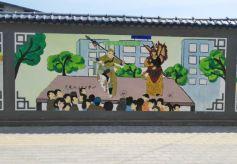 甘肃兰州安宁区文化墙助力文明城市创建