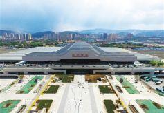 甘肃省为配合宝兰高铁客流集散 兰州西客站北广场部分区域提前开放