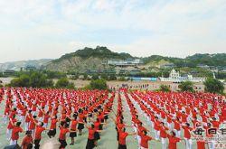 甘肃兰州开展大型健身舞蹈活动