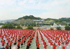 甘肃兰州市开展大型健身舞蹈活动