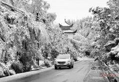 甘肃兰州秋雪首秀 几分惊喜几分懵圈
