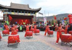 甘肃兰州市榆中甘草店瓦房川第七届民俗文化艺术节开幕