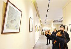 首届甘肃省中小学教师书画大展在甘肃艺术馆开幕