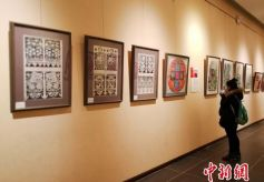 逾百幅剪纸精品甘肃省兰州展出 扬新时代陇原民风民俗