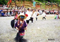 甘肃陇南白马文化旅游节古朴民俗的盛宴