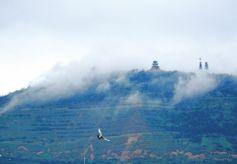 甘肃兰山烟雨犹如步入仙境