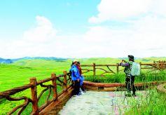 七月的甘肃甘南美景让游客陶醉在草原深处