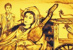 沙画表演艺术家朱晓玲的艺术之路