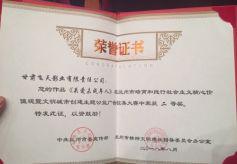 甘肃飞天影业作品获兰州文明城市创建主题大奖