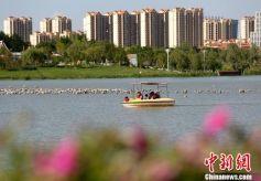 """甘肃兰州新区""""千塘百湖""""现代新城引民乐居"""