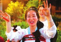 甘肃张掖华章汉服社在甘州区举办七夕节汉服活动