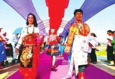 甘肃金昌民族风集体婚礼在紫金苑景区举行