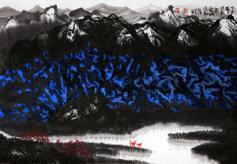 著名画家李涵和甘肃籍弟子田耘画展在成都成功举办