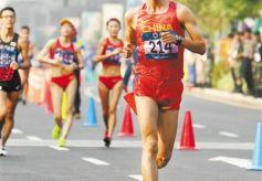 甘肃选手王凯华亚运夺得男子20公里竞走冠军