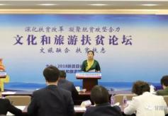 甘肃省甘南州旅游局局长欧杰草参加2018文化和旅游扶贫论坛