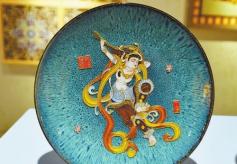 首届东千佛洞壁画艺术复原展在甘肃瓜州展出