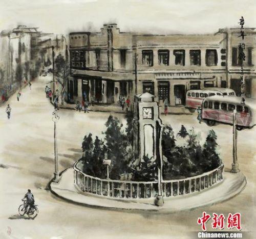 """七旬老人笔墨画""""精致兰州"""":留住消失的街区和邻里温情"""