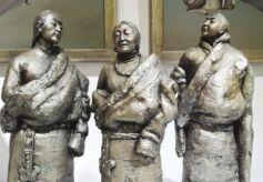 """甘肃首届雕塑作品邀请展在兰举行 本土47位雕塑家""""亮宝"""""""