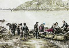 """王鸿庆创作出300余幅讲述""""老兰州""""故事的系列画作"""