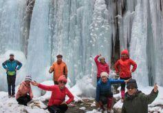 甘肃定西市漳县八龙峡举行首届冬季文化旅游(体育)冰雪节